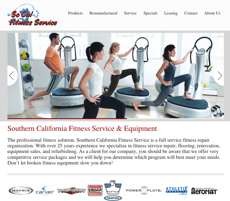 SoCalFit website 2011