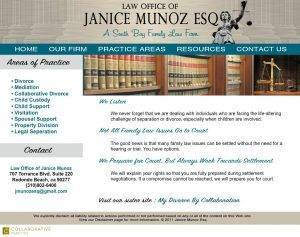 Law Firm of Janice Munoz ESQ website