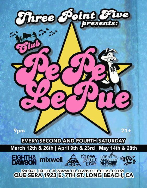 Clube PePe Le Pue flyer design