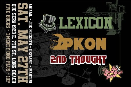 Lexicon, Pkon, 2nd Thought