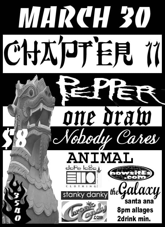 Chapter 11, Pepper, One Draw