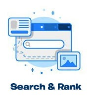 search and rank services icon