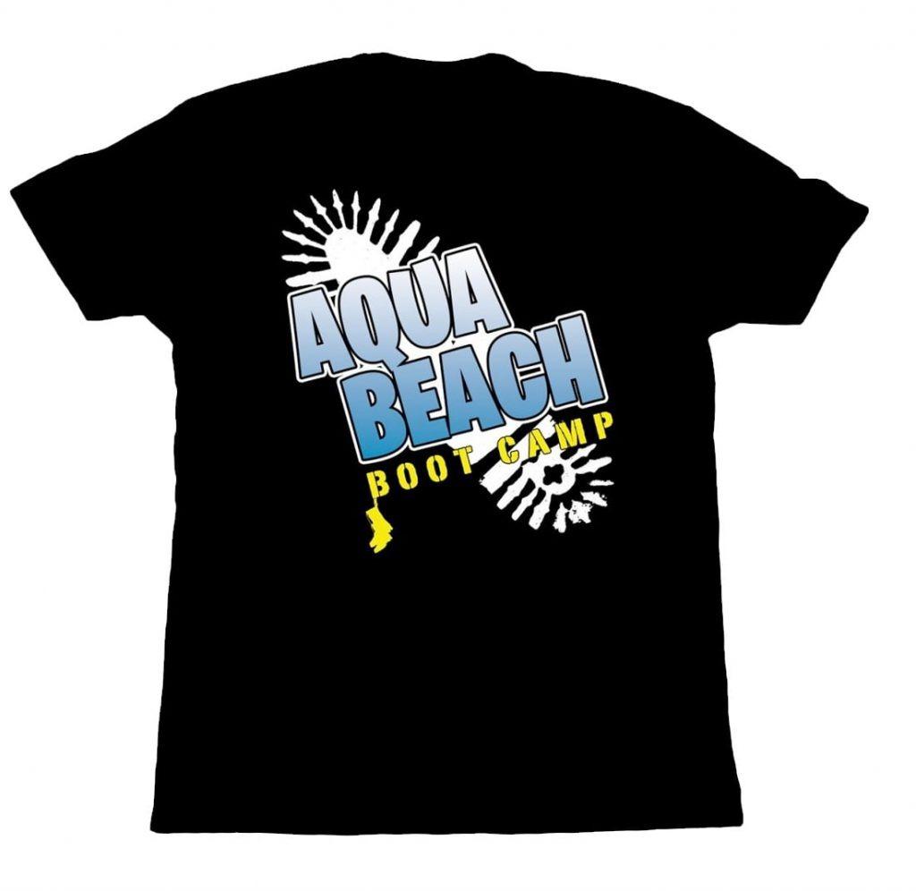 aqua beach boot camp logo design
