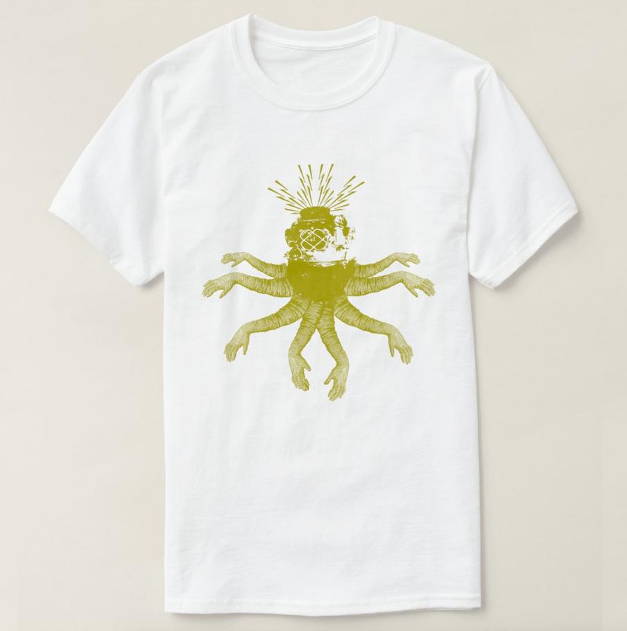 octodiver tshirt design