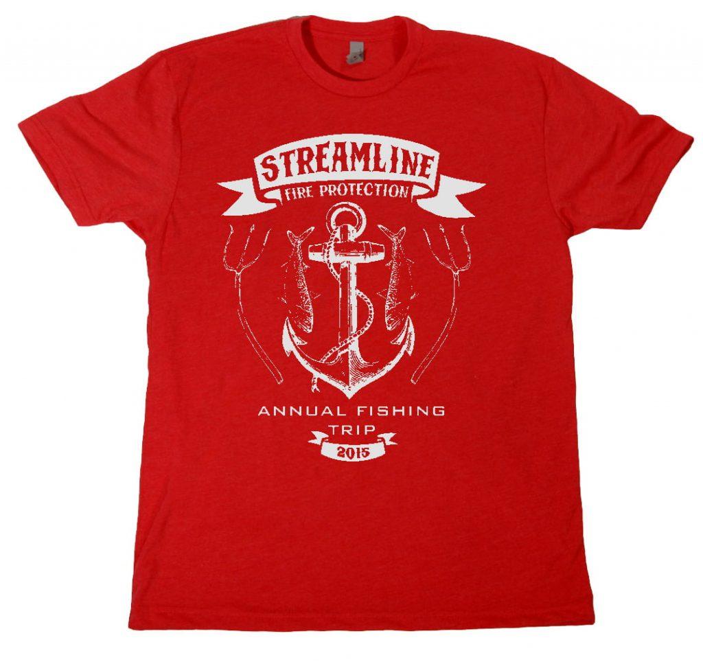 streamline fishing trip shirt design